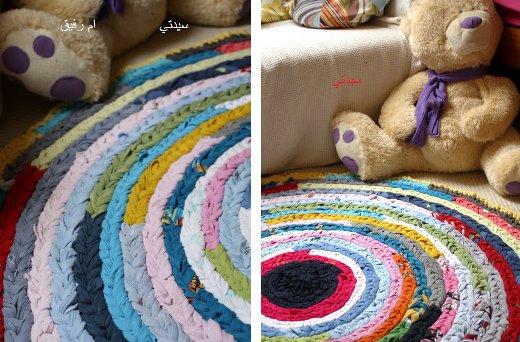 tresses de cha nettes la m thode la plus facile pour faire un tapis de crochet tissurecycle. Black Bedroom Furniture Sets. Home Design Ideas