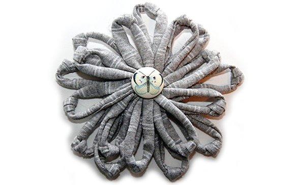 Comment faire une fleur simple avec du fil du tissu recycl tissurecycle net blog - Faire une fleur ...