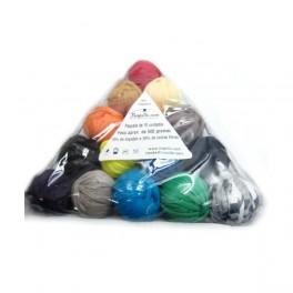 Triangle de fil du tissu recyclé